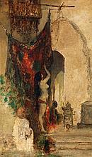 Attribué à HENRI REGNAULT (1843-1871) AU HAREM Huile sur toile monogrammée en bas à gauche