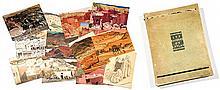 Jacques MAJORELLE (1886-1962) LES KASBAHS DE L'ATLAS Trente planches en polychromie rehaussées d'or et d'argent sur carton. Édité so...