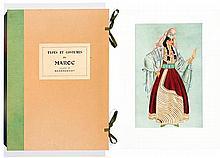 JEAN BESANCENOT (1902-1992) TYPES ET COSTUMES DU MAROC Album illustré de soixante gouaches reproduites en fac-similé et en camaïeu