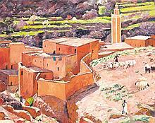 ROBERT DENIS (né en 1931) LA CASBAH Huile sur toile signée en bas à droite 65 x 81cm
