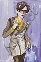 Elizabeth Peyton (née en 1965) Jarvis, 1996 Aquarelle sur papier Signée au dos 26 x 18 cm - 10 1/4 x 7 1/8 in. Watercolor on paper S...