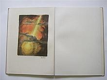 ABEL PANN Genesis Jérusalem Art publishing company, un feuillet de titre et 25 lithographies en couleurs signées dans la planche lég...