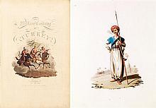 DALVIMART Octavien THE MILITARY COSTUME OF TURKEY. Londres, Thomas Mac Lean, 1818. In-folio comprenant 30 lithographies en couleurs....