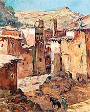 HENRI PONTOY (1888-1968) LA CASBAH D'ANEMITER THE CASBAH OF ANEMITER Huile sur toile signée en bas à gauche, portant un cachet en ba...