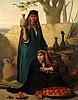 CHARLES LANDELLE (1821-1908) LA MARCHANDE D'ORANGES THE ORANGE SELLER Huile sur toile signée vers le centre droit. 47 x 37,5cm (18....