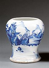 A blue and white vase, former yenyen, China, Qing dynasty, Kangxi period. H.8 1/2 in.