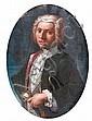 Giuseppe BONITO(Castellamare 1705 - 1789) Portrait d'homme Toile ovale 28 x 21 cm Petits manques