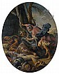 École BOLONAISE vers 1700, entourage de Donato CRETI Saül et les Moines de Nobé David épargne une seconde fois la vie de Saül Paire ...