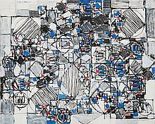 Natalia Dumitresco (1915-1997) Noir et bleu, 1984
