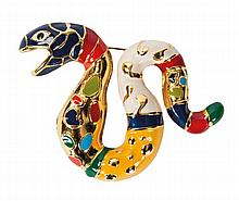 Niki de Saint Phalle (1930-2002) Broche serpent, 1998