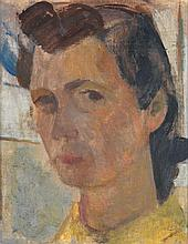 Perle Fine (1908-1988) Autoportrait, 1939 Oil on panel Signed with the monogram lower right   - 10 1/4 x 8 1/4 in