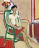 François Gilot (née en 1921) Femme assise