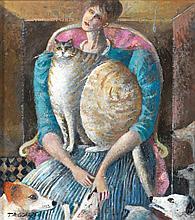 Elisabeth Taggart (née en 1943) Chats en chiens