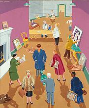 Ula Paine (1909-2001) A sending day Huile sur toile Signée en haut à gauche 76 x 64 cm