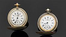 ENSEMBLE DE 2 MONTRES DE POCHE EN ARGENT K. SERKISOFF & Co CONSTANTINOPLE FIN XVIIIème - DÉBUT XIXème siècle Montres de poche savonn...
