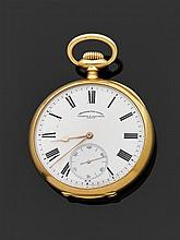 VACHERON CONSTANTIN GENÈVE CHRONOMèTRE ROYAL VERS 1920 Importante montre de poche en or jaune. Cadran émail blanc avec index chiffre...