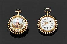 Ph(ilippe) TERROT & ACHARD SECONDE MOITIÉ DU XVIIIème siècle Montre de poche en or jaune époque Louis XVI avec perles d'or jaune ent...