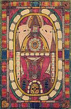 ƒ Adolf Wölfli (1864-1930) Nogers-Kapelle bei Palermo, 1928 Crayons de couleur et crayon sur papier Entièrement annoté au dos 47 x 3...