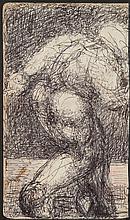 ƒ Malcolm Mc Kesson (1909-1999) Sans titre Stylo-bille sur papier 20 x 11,5cm