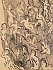 ƒ Louis Soutter (1871-1942) Nus en Lévitation Crayon sur papier 22 x 17,4cm