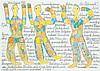 Johann Fischer (1919-2008) Personnages, 1995 Crayons sur papier Signé et daté
