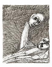 Rosemarie Kôczy (1939-2007) Je vous tisse un linceul, 1998 Encre sur papier Signée, titrée et datée