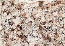 Raphaël Lonné (1910-1989) Composition, 1973 Gouache sur papier Datée