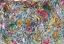 Raphaël Lonné (1910-1989) Composition, 1982 Gouache et encre sur papier Signée en bas à droite 24 x 32cm