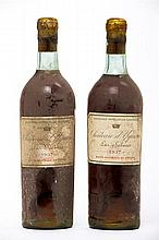 2 bouteilles CH. D'YQUEM, 1° Cru superieur Sauternes 1937 (1 J)