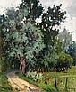 Maurice Martin (1894-1978) Clairière Huile sur toile Signée en bas à droite 65 x 54 cm