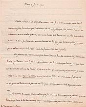 Louis-Alexandre de LA ROCHEFOUCAULD d'Enville. 1743-1792. Défenseur de la cause américaine, physiocrate, proche de Franklin, Turgot,...