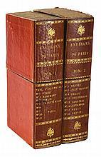 ATLAS.- COUTANS Guillaume. Atlas topographique en XVI feuilles des environs de Paris. Paris, Picquet, 1800; 16 cartes entoilées cont...