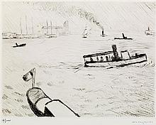 MARQUET Albert. Dix estampes originales présentées par George Besson. Paris, Rombaldi, 1947; grand in-4 en ff., couverture, étui à r...