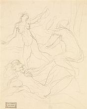 ANDRÉ DERAIN (1880-1954) Danseuses nues Crayon sur papier Porte le cachet de vente de Me Loiseau en bas à gauche  Pencil on paper Sa...