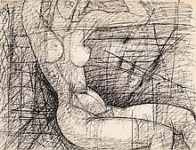 Marcel Gromaire (1892-1971) Femme assise, 1956 Encre sur papier Signée et datée en bas à droite  Ink on paper Signed and dated lower...