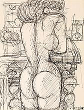MARCEL GROMAIRE (1892-1971) Nu de dos, 1957 Encre sur papier Signée en bas à droite  Ink on paper Signed lower right 32 x 24cm - 12...