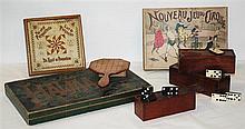 Un lot de 15 BOITES COMPRENANT DES JOUETS ET JEUX DIVERS. A set of various toys and games.