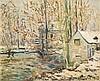MAXIME MAUFRA (1861-1918) Paysage d'hiver, 1918 Huile sur toile Signée et datée en bas à droite 54 x 66 cm