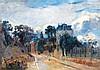 ALBERT LEBOURG (1849-1928) Rue de Meudon, 1895 Huile sur toile Signée et datée en bas à droite 46 x 64, 5 cm