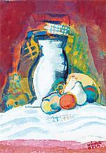 Béla Kádár (1877-1955) Nature morte Gouache sur papier Signée en bas à droite 49 x 33,3 cm