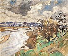 LOUIS VALTAT (1861-1952) Paysage Huile sur toile Signée en bas à droite 38 x 46 cm