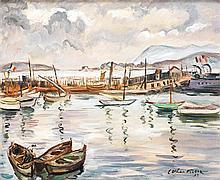 Achille Émile Othon Friesz (1879-1949) Port de Toulon, 1929 Huile sur toile Signée et datée