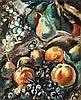 Achille Émile Othon Friesz (1879-1949) Jetée de fleurs et fruits Huile sur toile Signée en bas à gauche 46 x 38 cm