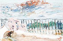 Jean Fusaro (1925) Nu à Venise, 1968 Huile sur toile Signée en bas à droite 27 x 40,5 cm