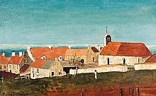 ROLAND OUDOT (1897-1981) Sanelles Huile sur toile Signée en bas à gauche 38,5 x 62 cm
