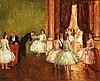 Jean Louis Marcel Cosson (1878-1956) À l'opéra Huile sur panneau Signée en bas à gauche 50 x 60 cm