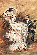 Jean Louis Marcel Cosson (1878-1956) Tango Huile sur toile Signée en bas à gauche 55 x 38,5 cm
