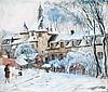 Camille Nicolas Lambert (1876-1963) Juvisy Huile sur toile Signée en bas à gauche 81 x 94 cm