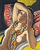 Jean Metzinger (1883-1956) Femme nue dans un fauteuil Huile sur toile Signée en bas à droite 61 x 50 cm