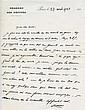 Maurice BARRES. 1862-1923. Écrivain, figure du nationalisme. 3 L.A.S. Paris, 27avril 1920 et s.d. 1 pp. in-8 et 2 pp. ½ in-4, en-tê...